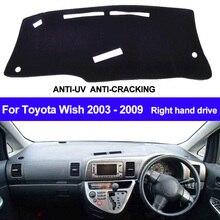 Car Dashboard Cover Dash Mat For Toyota Wish 2003 2004 2005 2006 2007 2008 2009 Auto Sun Shade Dash Board Mat Pad Car Styling
