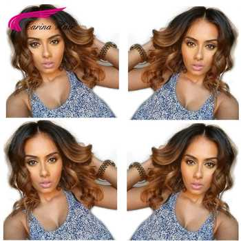 Carina Ombre 1b30# Lace Front Human Hair Wigs with Baby Hair Pre-Plucked Hairline Remy Brazilian Loose Wave Glueless Wigs