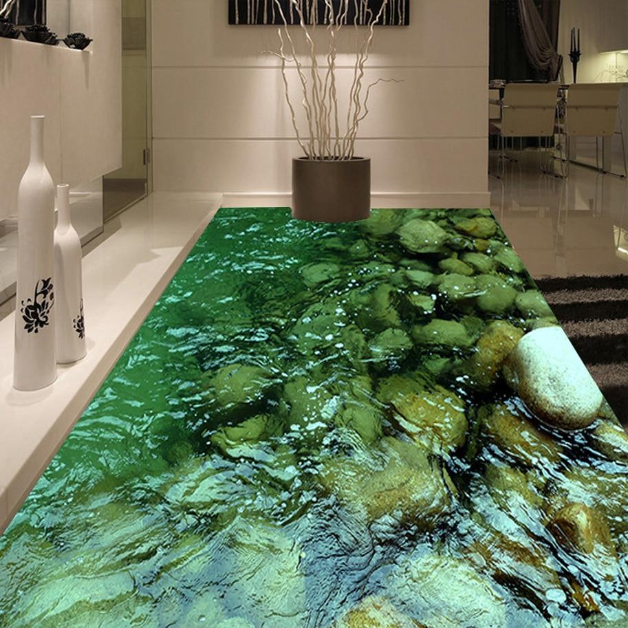High quality custom floor wallpaper living room bathroom - Waterproof floor paint for bathrooms ...