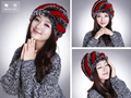 Beanie Gorros Newest Fashion Excellent Rex Rabbit Fur Hat Genuine Women Winter Cap High Quality Beret Hat, Best Gift For Lover