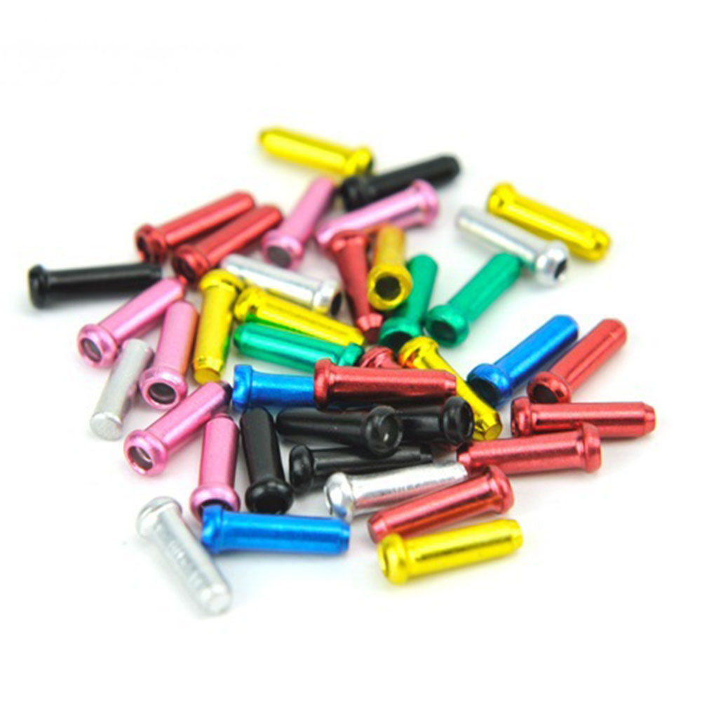 10pcs/lot Bike Brake Cable Cap End Tips Crimp Alloy Road Mountain Bicycle Cycling Bike End Caps Parts