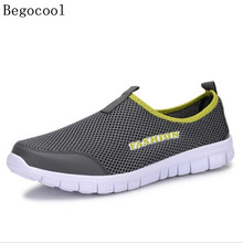 Begocool Men Casual Shoes 2017 New Men's Fashion Solid Breathable Lazy Shoes Male Plus Size 39-46 Slip-on Network Shoes