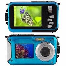 Newest HD Double Screen 5M Waterproof Camcorder 16X Zoom 1920x1080 24MP pixels CMOS sensor Digital Camera DVR Video recorder