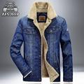 Новое поступление Бренд Одежды AFS JEEP мужская Джинсовая Куртка Повседневная Сгустите Джинсовая Куртка мужская Мода Осень Зима Верхней Одежды пальто