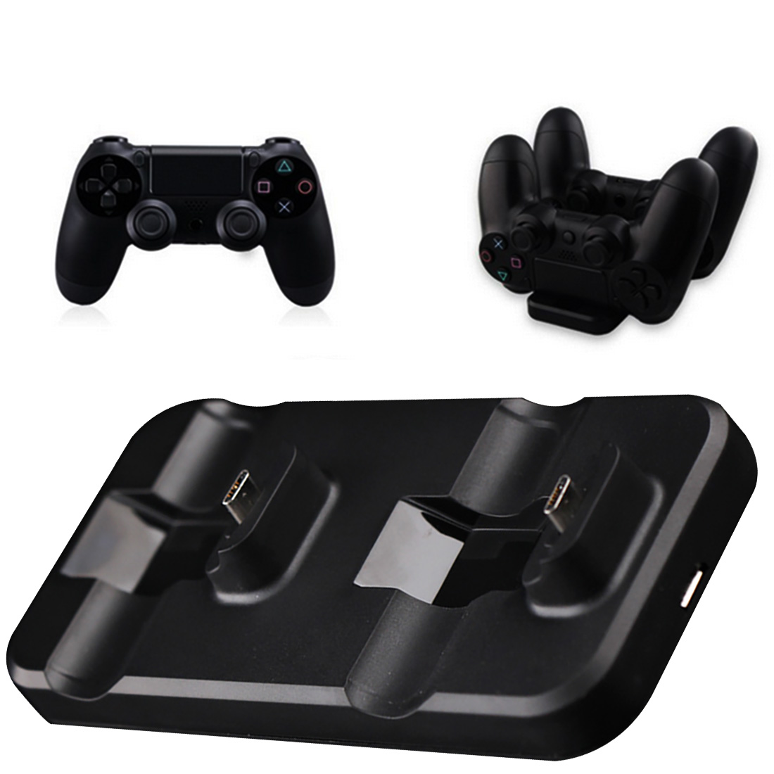 Marsnaska Rechargeable Battery Charger + Handle Charging Cable Sets For Sony Playstation 4 PS4 Controller Gamepad