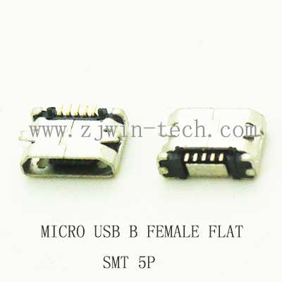 10pcs/lot 5Pin  Micro USB 5pin long pin SMD Female connector for mobile phone Mini USB jack PCB welding socket FLAT MOUTH 10x mini usb type b 5pin female connector adapter for mobile phone mini usb jack connector 5 pin charging socket plug hy1374 10