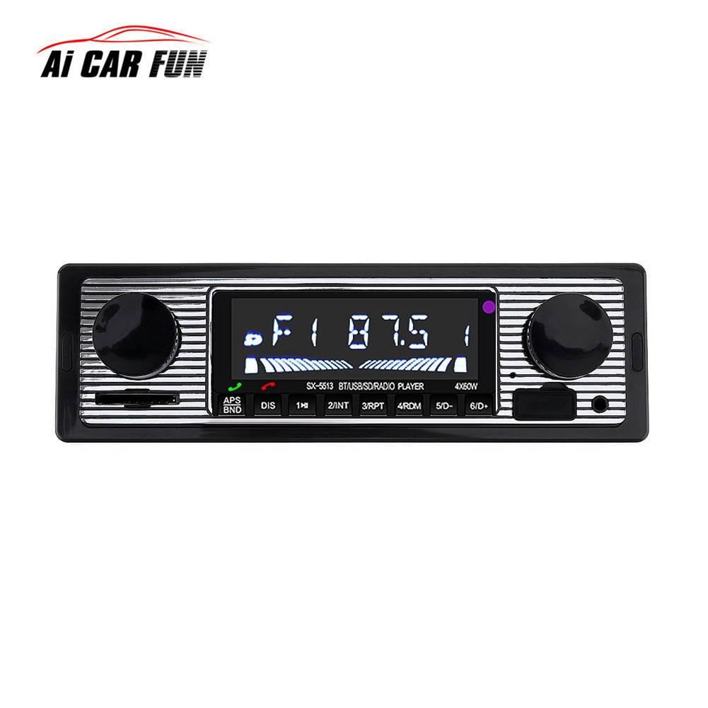 Promotion Car Stereo Hands free Bluetooth Car Radio MP3 Player Single Din <font><b>USB</b></font>/SD/AUX/FM <font><b>Receiver</b></font> Wireless Remote Control SX-5513 image