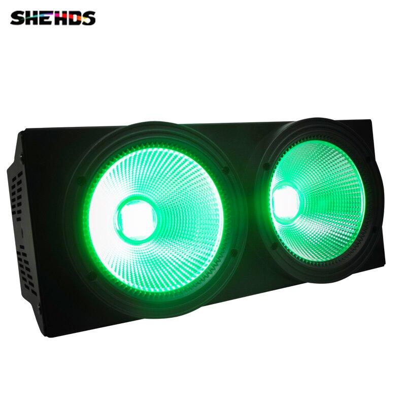 2pcs/lot LED COB Wash Audience Lights 2 eyes Flood Lighting 2x100W Matrix Blinder Light For Dj Disco Effect Lights Wedding