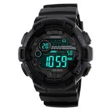 Skmei numérique sport montre hommes compte à rebours chronographe double temps commutateur led électronique montres militaire montre-bracelet 1243