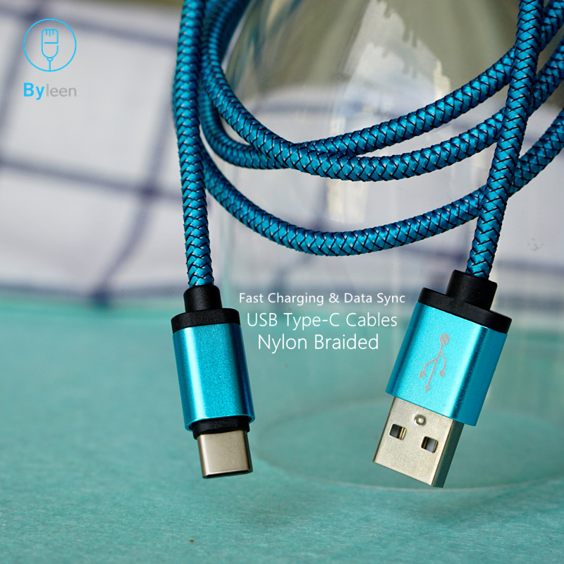 Byleen Metal plug USB Type C <font><b>Charger</b></font> for <font><b>Samsung</b></font> <font><b>Galaxy</b></font> Note 8 9 S8 S9 PLUS A9 STAR <font><b>A7</b></font> HTC U11 U12 + U10 Life Fast <font><b>Charger</b></font> image