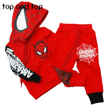Spiderman Children Boys Clothing set Baby Boy Spider man Sports Suits 2-6 Years Kids 2pcs Sets Spring Autumn Clothes Tracksuits