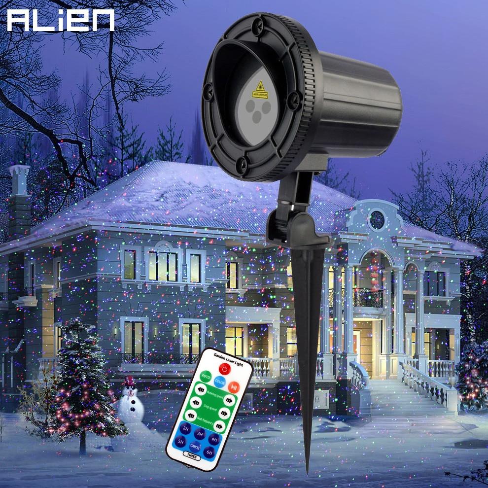Alien Rgb Moving Static Dots Star Christmas Laser Light