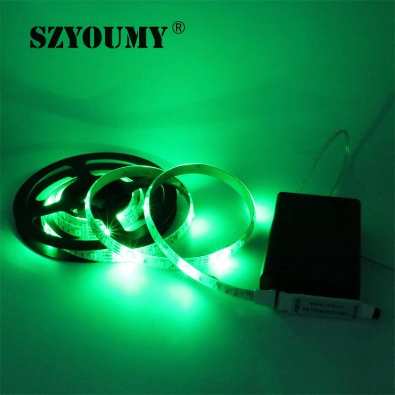 SZYOUMY RGB Led Light Strip аккумуляторы Powered + RGB - LED Жарықтандыру - фото 6
