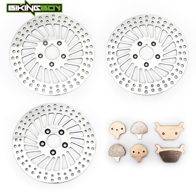 US $224 98 10% OFF BIKINGBOY Front Rear Brake Disks Discs Rotors Pads for  Dyna 1340 FXD Super Glide 95 98 1340 FXDS Convertible 1340 FXRS Low  Rider-in