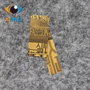 Image 3 - Ücretsiz kargo özelleştirilmiş/asmalı özeletiketler kumaş baskılı giysi etiketi, salıncak etiketleri, OEM askılı etiketler etiketleri/giyim kişiselleştirilmiş