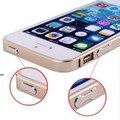 Luxo ultra-fina de alumínio bumper metal cover quadro para apple iphone 5 5s prata ouro preto 6 cores disponíveis