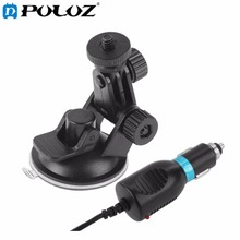 Suction Cup Bracket with Sports Camera Car Charger for SJ Series Action Camera SJ4000/SJ3000 / SJ2000 / SJ1000 Mount Accessories(China)