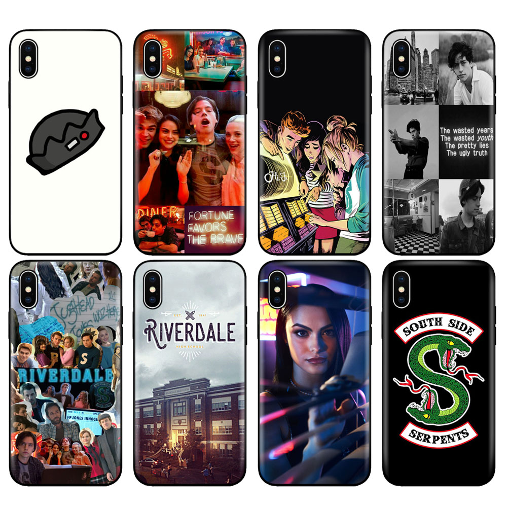 Black tpu <font><b>case</b></font> for <font><b>iphone</b></font> 5 5s se <font><b>6</b></font> 6s 7 8 plus x 10 <font><b>case</b></font> silicone cover for <font><b>iphone</b></font> XR XS MAX <font><b>Riverdale</b></font> pop's south side JUGHEAD image