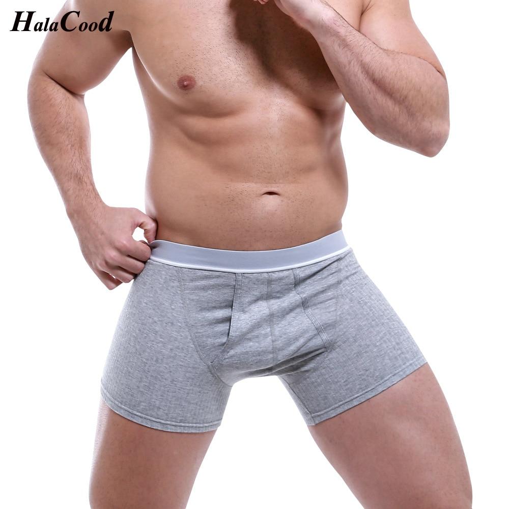 Long Boxer Mens Plus Size Underwear Cotton Man Boxers Breathable Solid Flexible Shorts Boxershort Pure Color Male Underpants Fat