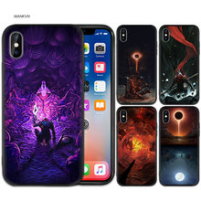 Core Bloodborne ยางสีดำนุ่ม TPU ซิลิโคนสำหรับ iPhone X XS XR XS 11 11Pro Max 7 8 6 6S 5 5S 5C SE Plus Funda Capa(China)