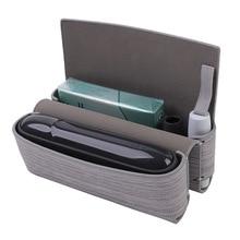 Estojo de armazenamento de tecido para iqos e cigarro, proteção para iqos 3.0