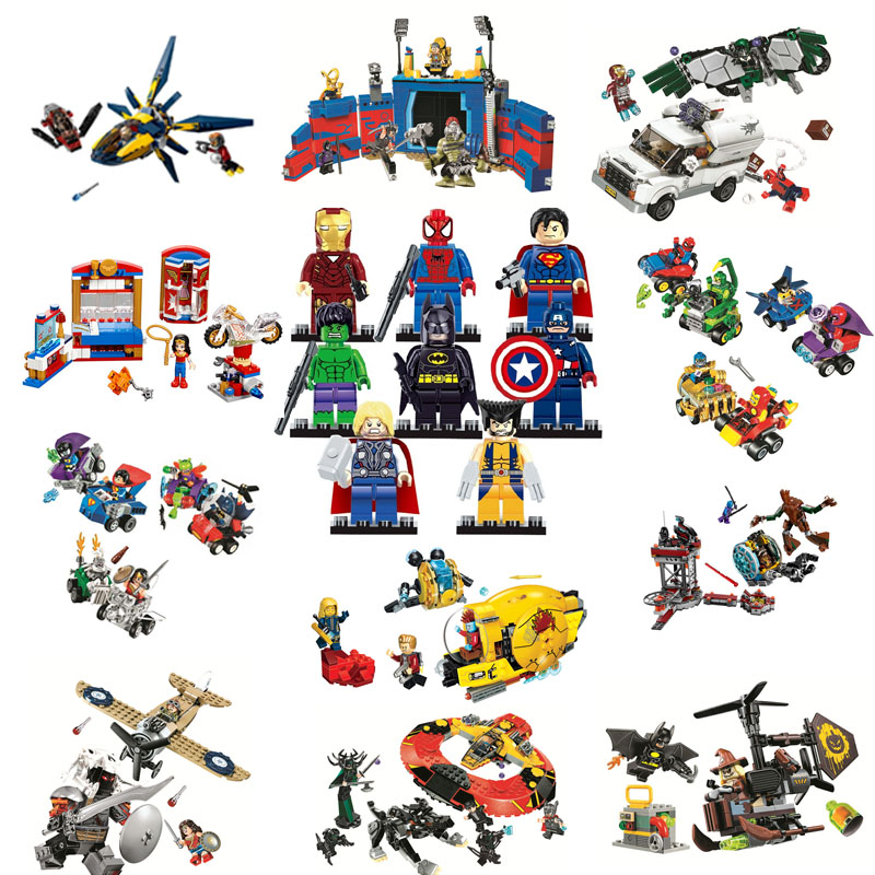 Compatible Legoe Super Heroes Avengers Infinity War Marvel Justice League Hulk Thor Building Blocks Bricks Toys gifts for kids цена