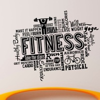 New arrival Gym Name Sticker Fitness Crossfit Barbell Decal Body building Posters Vinyl Wall Decals Decor Mural Gym Stickers