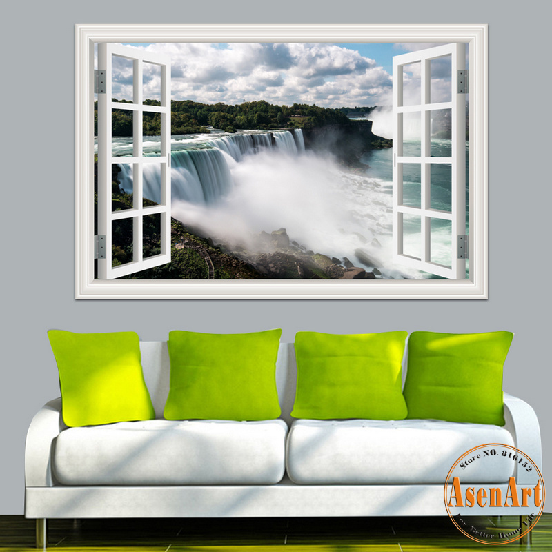 3d window view wall sticker decal sticker home decor living room nature landscape decal Home decor survivor 6