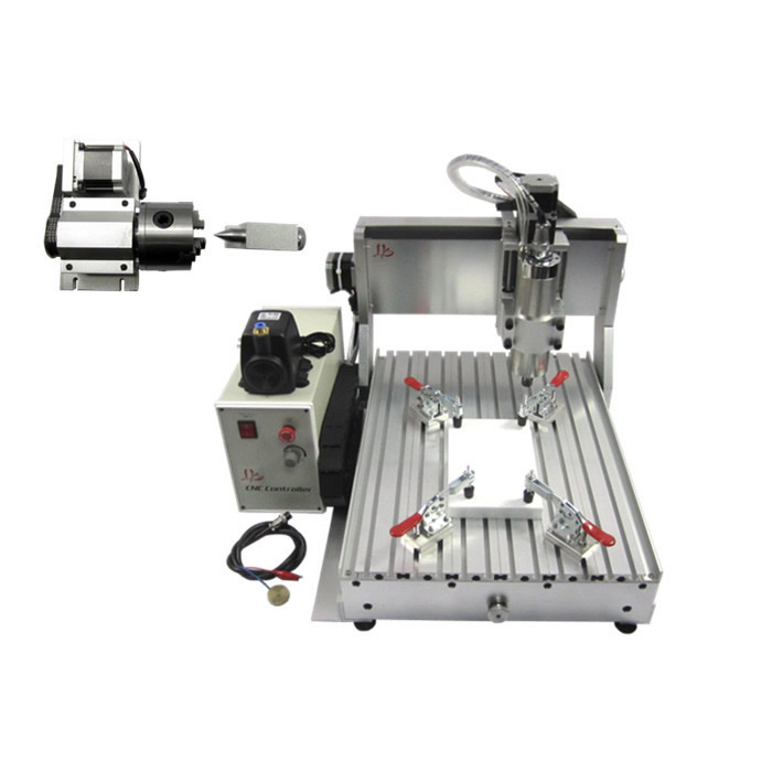 CNC router 3040 cutting milling machine with rotary axis cnc parts 4axis USB parallel port mini cnc router machine 2030 cnc milling machine with 4axis for pcb wood parallel port