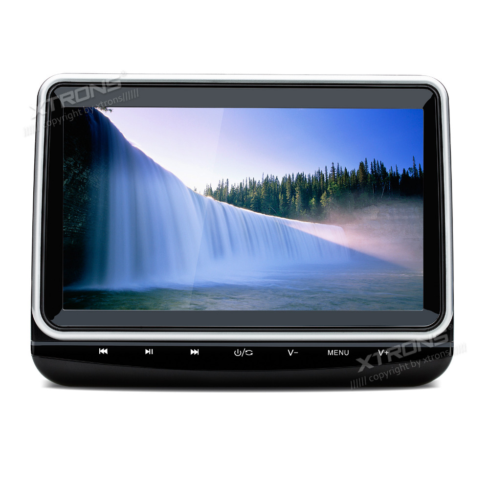 XTRONS 10.1 Car Headrest DVD Player auto radio 1080P Video Monitor HD Digital TFT Screen Touch Panel 1024*600 with HDMI Port image