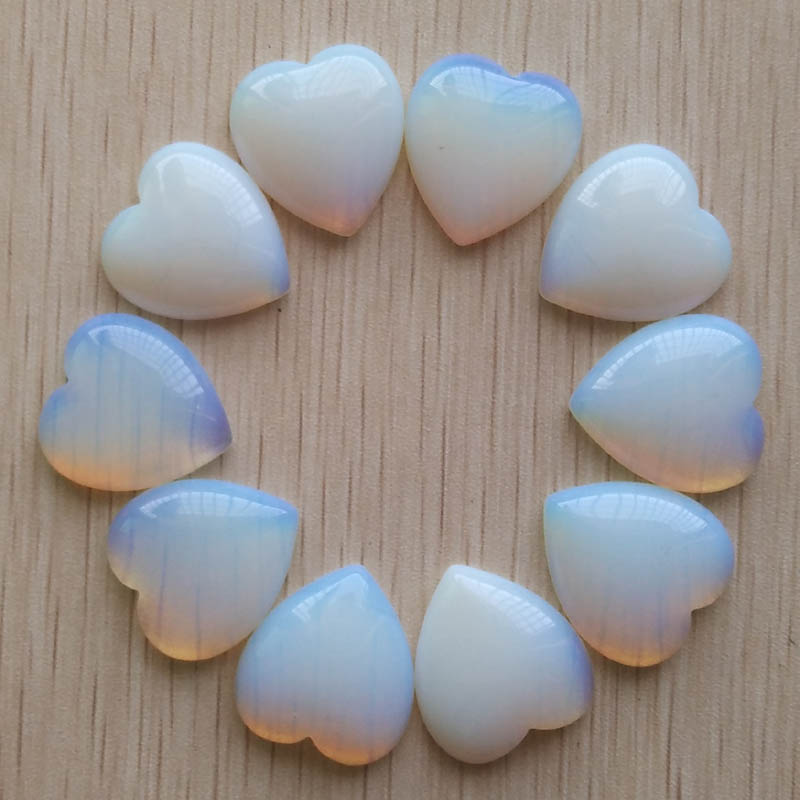 2017 new good quality opal stone heart shape cab cabochons beads for jewelry making 25mm wholesale 10pcs/lot free