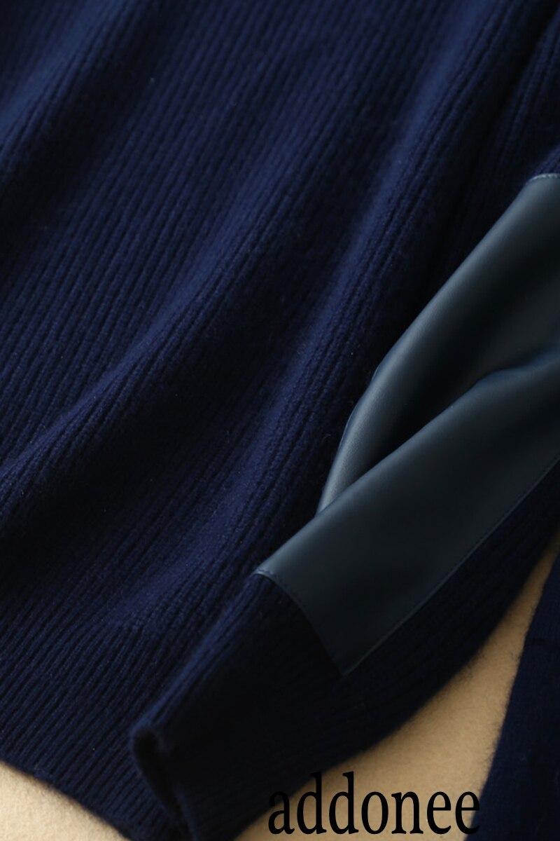 Lana Cuello Caliente Blue Moda Las Estilo Star Cachemira Invierno Alta Suéter Victoria E bstz Dark Pantalones Calidad Otoño Sólido Conjuntos Mujeres De Nuevo x0aZAqggw