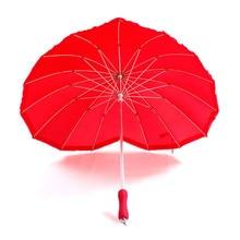 2016 Red Querida Forma Guarda-chuva Guarda-chuva De Noiva Acessórios Do Casamento de Noiva Vermelho(China (Mainland))