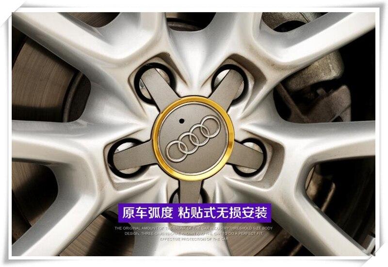 سيارة التصميم معدن من خليط الألومنيوم عجلة hubscircle ملصقات الزخرفية لأودي A4 B5 B6 B8 A6 A7 C5 C6 A3 A5 Q5 Q7 TTS RS5 RS7
