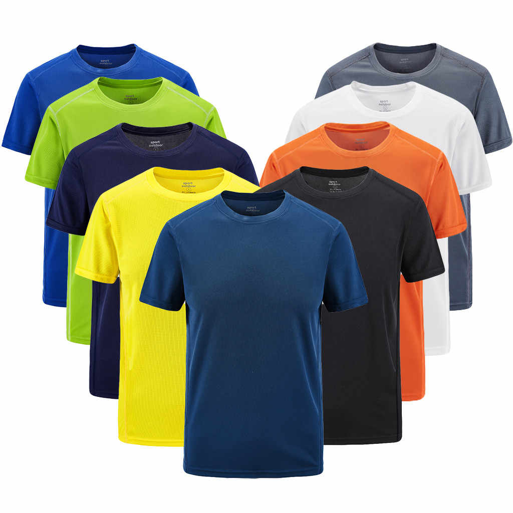 Plus Size 8XL T Shirt Men Summer 2019 Streetwear Casual Outdoor Sport Fast-Dry Breathable Tops 9Colors Camisetas Hombre
