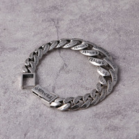 S925 silver fashion accessories Personality male money bracelet Thai silver restoring ancient ways six words silver chains