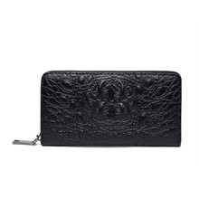 New Long Wallet Crocodile Women Men Wallets PU Leather Purse Men's Clutch Wallets Fashion Zipper Wallet Coin Bags
