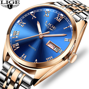 2019 LIGE New Women Watches Top Brand Luxury Stainless Steel Waterproof Date Business Quartz Watch Ladies Clock Relogio Feminin
