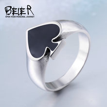 Cool poker Lucky Ring For Man And Woman High Quality Stainless Steel Oil Painting No Fade Jewelry Gothic BR8-209(China)