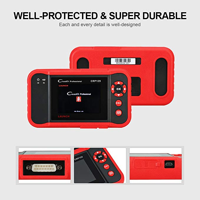 Image 2 - Launch X431 Creader CRP129 Auto Code Reader OBD2 Scanner OBDII Diagnostic Tool Car Automotive Scan Tools Creader VIII 8 ABS SRS-in Code Readers & Scan Tools from Automobiles & Motorcycles