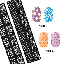 50pcs Newest Nail Airbrush Stencil Flower Stamping Art Hollow Templates Sticker,Nail Stencils Stamp Plates Guide Tools Wholesale