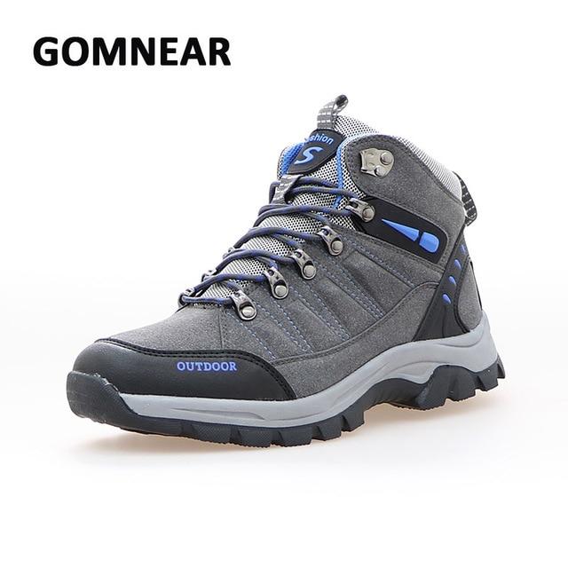 Gomnear alte scarpe da trekking outdoor uomo antiscivolo resistente  all usura traspirante scarpe da ginnastica dc9995645de