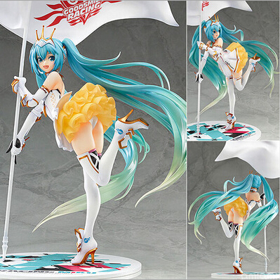 NEW hot 22cm Hatsune Miku Race car driver 2 Action figure toys doll collection Christmas gift with box a toy a dream new hot 28cm assassins creed altair ibn la ahad edward action figure toys doll collection christmas gift with box