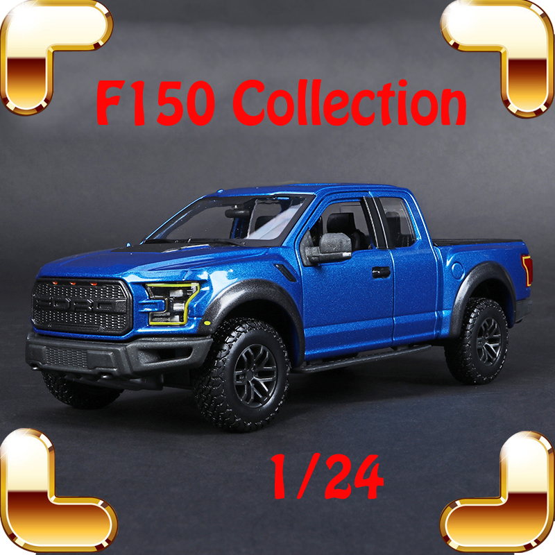 Christmas Gift F150 1/24 Metal Model Truck Vehicle Car Collection Alloy Diecast Big Model Scale Toys Luxury Present Table Top new year gift gallargo 1 18 large model metal car metallic scale simulation diecast alloy collection toys vehicle present