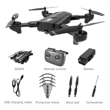 цена на SG900 RC Drone with Dual 720p/4K HD Camera X196 Quadcopter Foldable Optical Flow Localization Drone 22/11mins long flight time