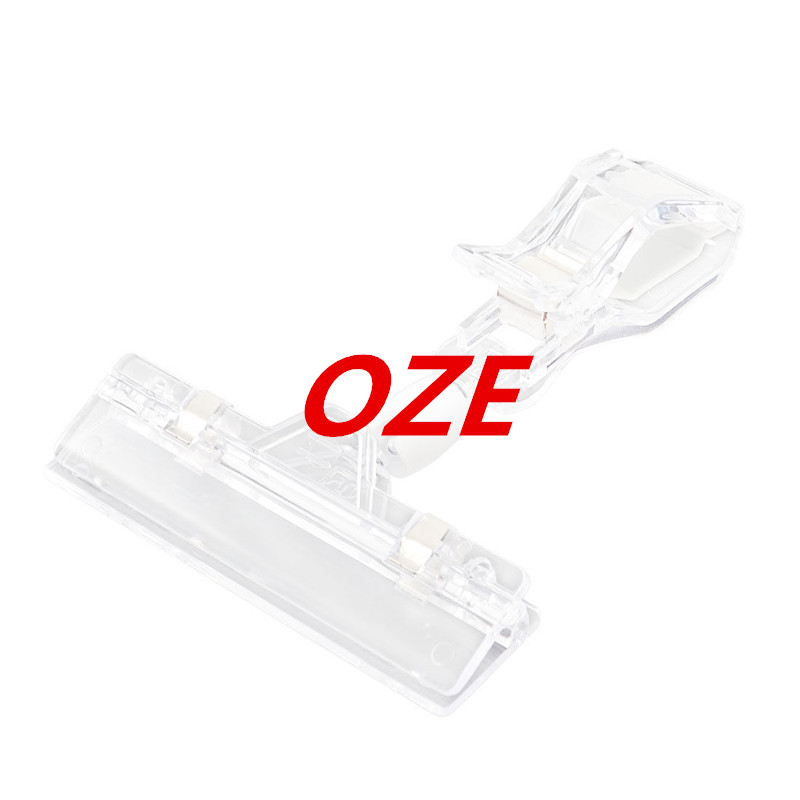1PCS Supermarket Clear Plastic Omnidirectional Rotating Pop Thumb Display Clip