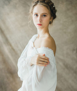 Image 4 - Gezonde Thuis Jurk Nachtjapon Vrouwen Plus Size Lange Witte Katoenen Nachtkleding Flare Mouwen Casual Sleep Shirt Lady T39