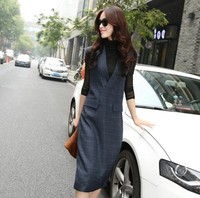And Woolen Casual Dress Woman Skirt Europe Station Competitive Suit-dress Of Sexy Long Sundresses Skirts-womens Slim-dress