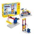 DIY!!! Elevador Elevadores de engenharia Modelo Crianças Brinquedos Ciência Crianças Brinquedos Educativos Blocos de Construção Mecânica
