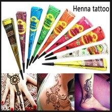 Henna Waterproof Body Paint hena Art Cream Paste Temporary Tattoo Cone For Stencil Mehndi Airbrush